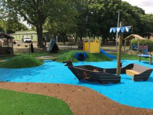 Outdoor playground pirate boat